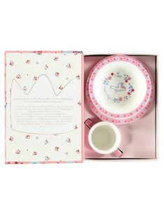 Kit repas rose et blanc ROPASFILLE / 19EZLAX2KTR001