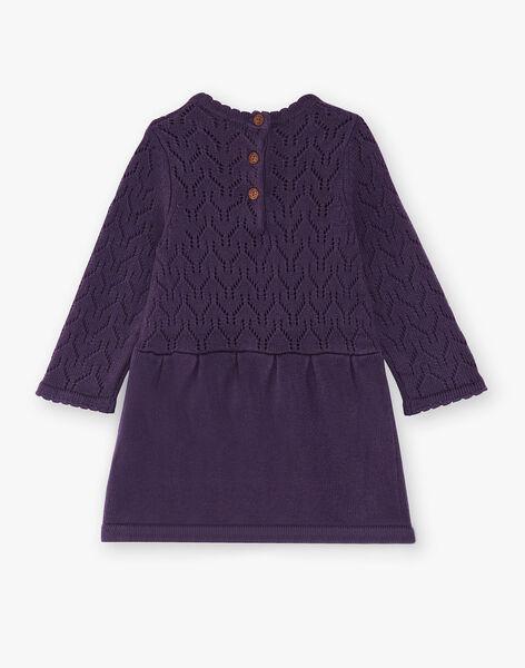 Robe violette en tricot VAMILLIE / 20H1BFU1ROB303