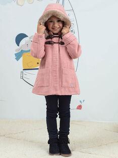 Manteau rose duffle coat enfant fille BLODUFETTE / 21H2PFD1MAND314