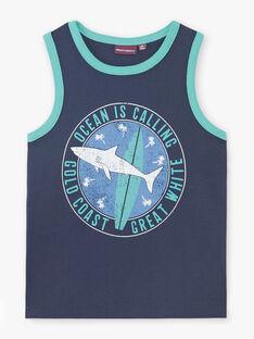 Débardeur bleu anglais motif requin enfant garçon ZUXIAGE2 / 21E3PGL1DEB702