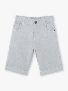 Bermuda gris à rayures enfant garçon ZUZTAGE2 / 21E3PGL4BERC228