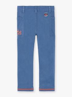 Pantalon bleu ceinture tressée ZEAGE / 21E3PGB2PANC230