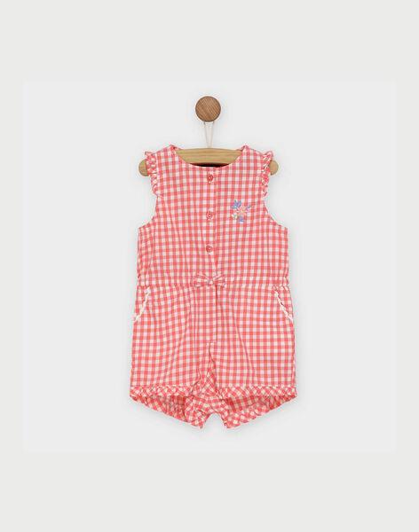 Combinaison rose à carreaux bébé fille RAORELIA / 19E1BFH1CBL404