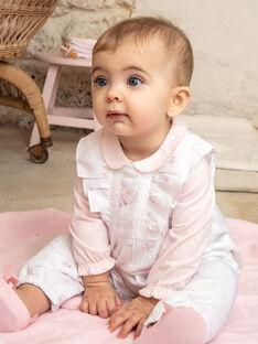 Ensemble body, salopette et chaussettes bébé fille ZOURA / 21E0CFG3ENS000