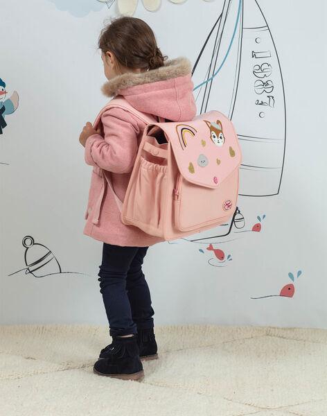 Cartable rose à motifs fantaisie enfant fille BAZINETTE / 21H4PF53BES310