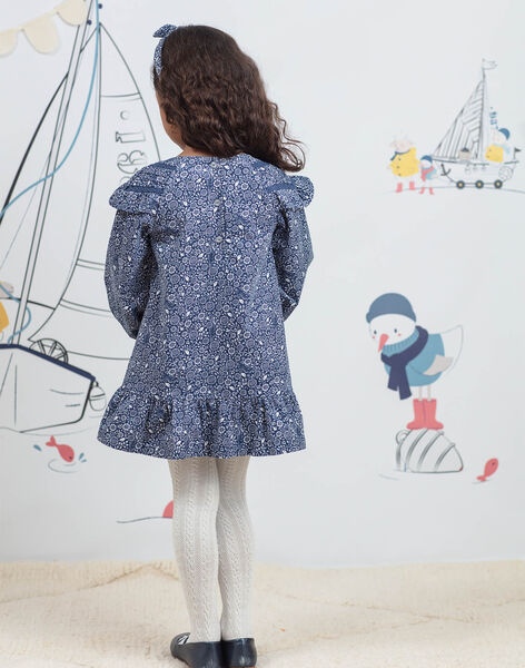 Robe manches longues imprimé fantaisie enfant fille BYROBETTE / 21H2PFL1ROB715