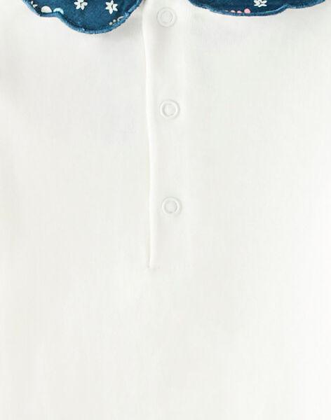 Body écru avec col imprimé VAGIANE / 20H1BFL2BOD001