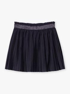 Jupe plissée bleu encre enfant fille BROJUPETTE2 / 21H2PFB1JUPC214