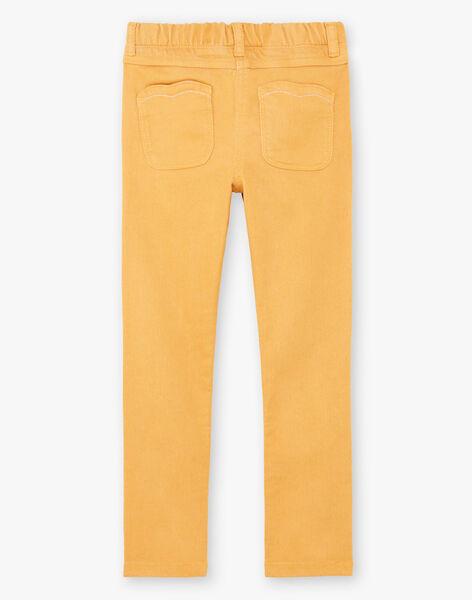 Pantalon jaune enfant fille BROSAETTE3 / 21H2PFB6PANB106