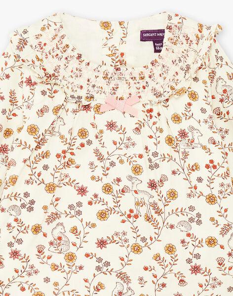 Ensemble blouse imprimée et legging en maille bébé fille BAISTELLE / 21H1BFJ1ENS001