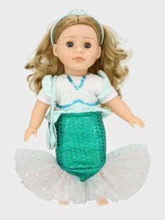 Tenue de sirène pour poupée Adèle TATENUSIR / 20EZEND1TEN213