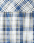 Chemise à carreaux bleu et beige  VAHARRYEX / 20H1BGL2CHMC201