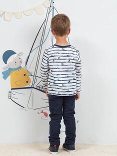 Pantalon bleu nuit enfant garçon BIOXIAGE / 21H3PGL1PANC205