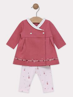 Ensemble robe et son legging bébé fille SYAGATA / 19H0CF11ENS303