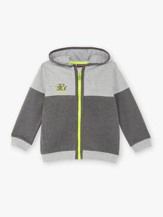 Veste de jogging grise à détails contrastés enfant garçon ZEDIRAGE1 / 21E3PGK3JGHJ924