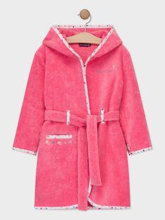 Peignoir rose petite fille  TEJAVETTE / 20E5PF71PEID318