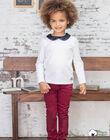 Pantalon rouge bordeaux enfant fille BROSAETTE2 / 21H2PFB1PAN719