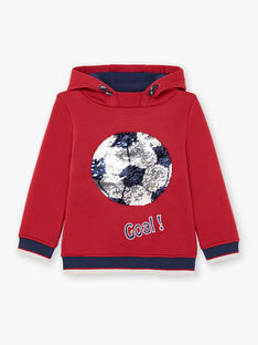 Sweat à capuche rouge et bleu marine enfant garçon BUSWETAGE1 / 21H3PGF1SWEF527