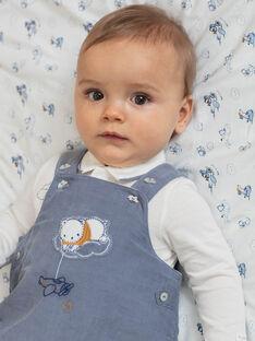 Ensemble body et salopette bleu horizon en velours côtelé naissance garçon BONHEUR / 21H0CG43ENS216