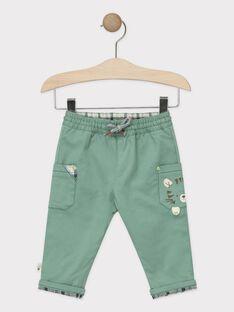 Pantalon vert bébé garçon  TAARY / 20E1BGB1PANG624