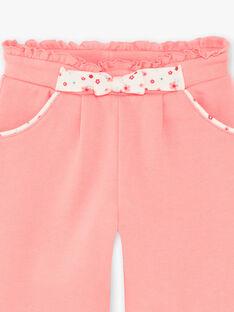 Pantalon de jogging rose ZAFIONA / 21E1BFB1JGBD309