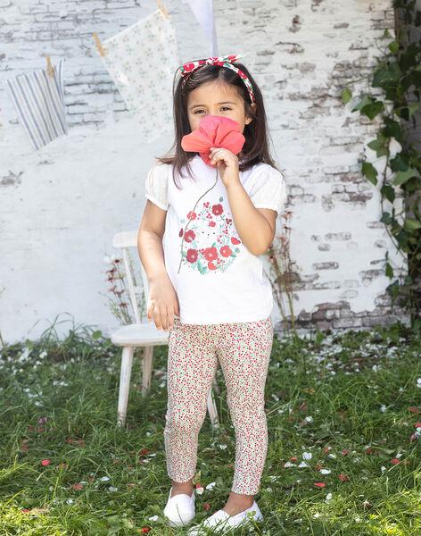 Legging imprimé fleuri enfant fille BAZEGETTE / 21H4PF11CAL001