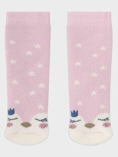 Chaussettes rose pastel bébé fille SASHEILA / 19H4BFN1SOQD326