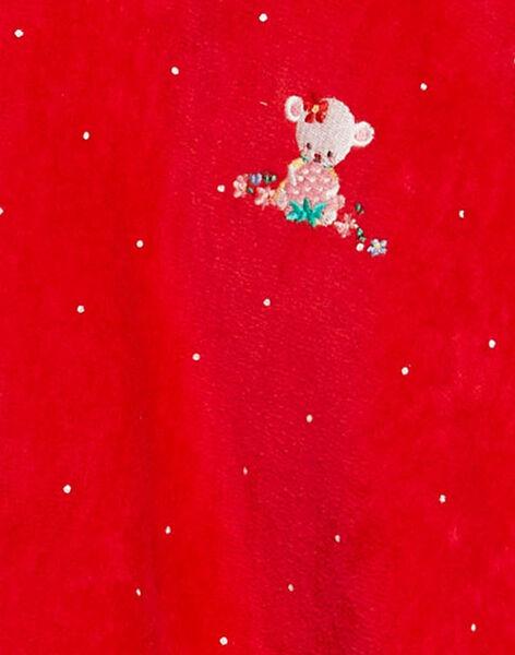 Cape de bain fraise bébé fille  TICAPE / 20E4BFI1CDB050