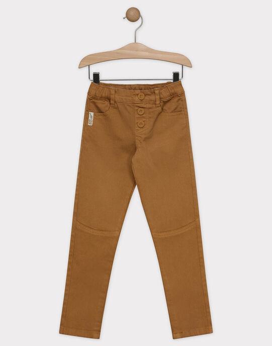 Pantalon camel en chevron garçon SACHEVRAGE / 19H3PG62PAN804
