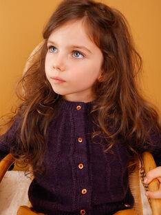 Cardigan en tricot violet VLOUETTE / 20H2PFU1CAR711