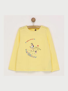 Tee shirt manches longues jaune  RADUFETTE / 19E2PF61TMLB105