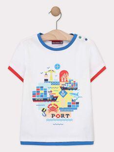 Tee-shirt manches courtes écru garçon  TUDOBAGE / 20E3PGW1TMC001