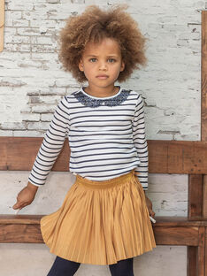 Jupe plissée jaune moutarde enfant fille BROJUPETTE1 / 21H2PFB3JUPB106