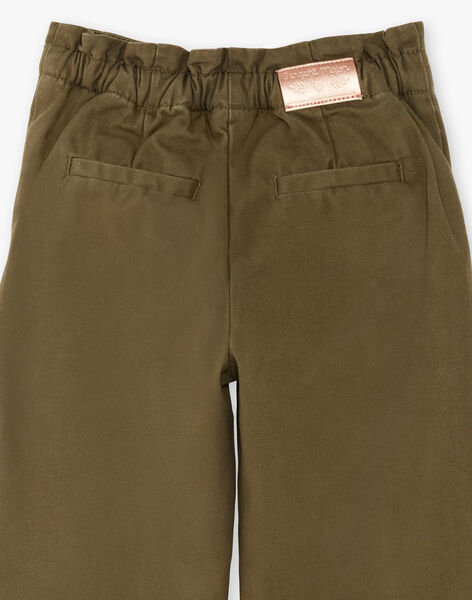 Pantalon kaki taille élastiquée ZAPAETTE / 21E2PF71PAN604