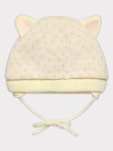 Bonnet ecru foncé bébé fille SAPHINE / 19H4BFI1BON003