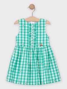 Chasuble à carreaux verte fille  TUROETTE / 20E2PFH2CHS600