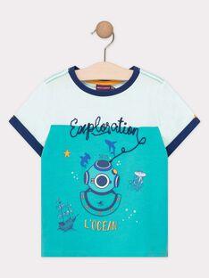 Tee-shirt manches courtes bleu clair garçon TEDRIAGE / 20E3PGD2TMC209
