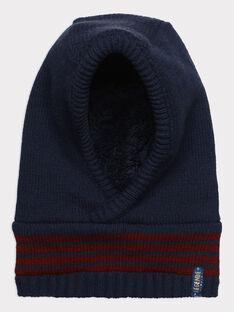 Bonnet bleu à motif jacquard garçon SEGOULAGE / 19H4PGI1BON713
