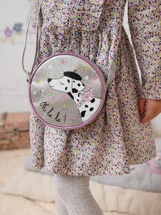Sac rond bandoulière argenté motif dalmatien enfant fille BEBAGETTE / 21H4PF21BES956