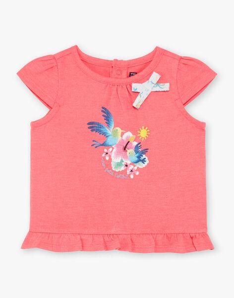 Tee Shirt Manches Courtes Rose fluo ZASTACY / 21E1BFU1TMCD311