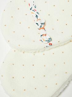 Écharpe à pois dorés écrue en tricot  VAKOLINE / 20H4BFI2ECH001