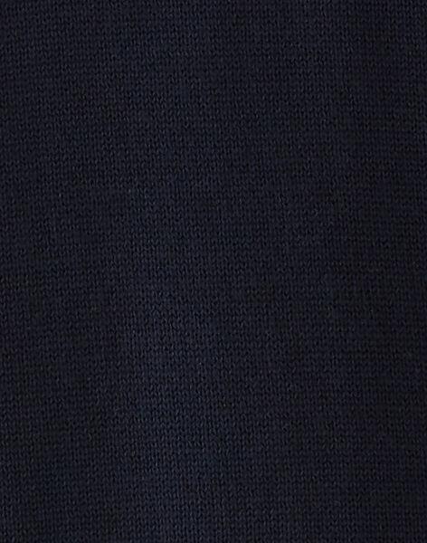 Gilet bleu mariné zippé VELIAGE / 20H3PGM1GIL715
