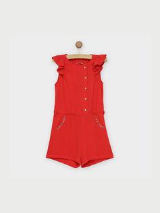 Salopette courte rouge REMIMETTE / 19E2PFE1SAC050