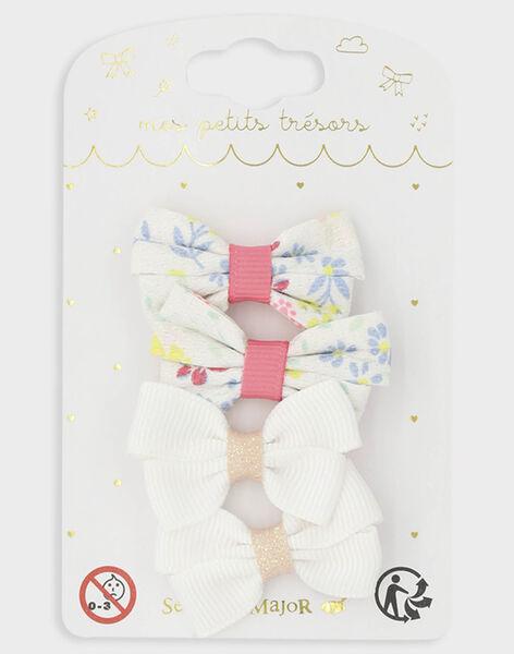 Lot de 4 barrettes petits nœuds cérémonie petite fille TYKOKETTE / 20E4PFKABRT321