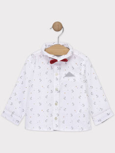 Chemise bébé garçon imprimé lapins et étoiles  SAWAPI / 19H1BGP1CHM001