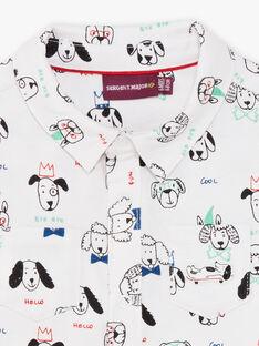 Chemise écrue imprimé chiens bébé garçon BABLAISE / 21H1BG11CHM001