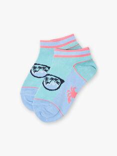Socquettes bleu turquoise motif plage enfant garçon ZOSOCAGE / 21E4PGU1SOB202