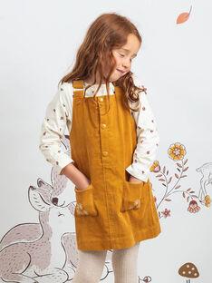 Robe-salopette camel brodée enfant fille BUCHETTE / 21H2PFJ1CHS804