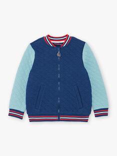 Teddy vert et bleu matelassé ZAFOUAGE / 21E3PGI1GIL705