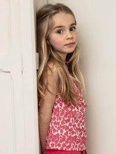 Débardeur rose enfant fille ZLYNETTE1 / 21E2PFL2DEB304